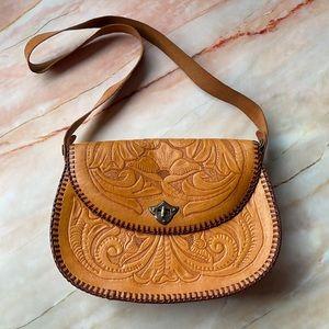 VINTAGE | Hand tooled leather bag